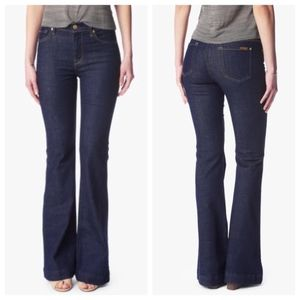 7 For All Mankind Ginger Flare Leg Jeans Mid Rise